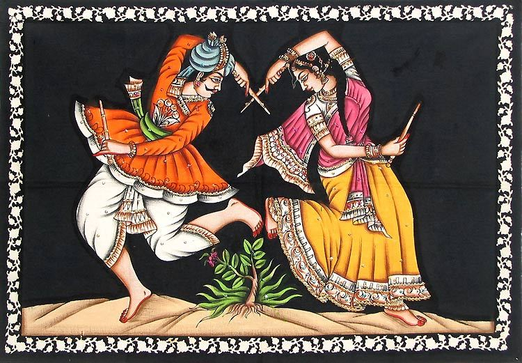 DANCE CLASS ONLINE - Raas-Dandiya Dancing School LessonsDandiya Dance Clipart