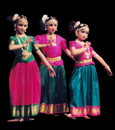 Indian teachers teaching children